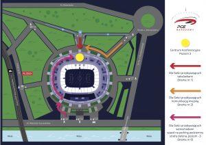 Mapa Stadion Narodowy